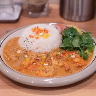 海老のココナッツミルクカレー+オーガニックパクチー(spiceスエヒロ (スパイススエヒロ))