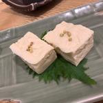北海道産大豆の湯葉刺し(蕎麦雪屋)