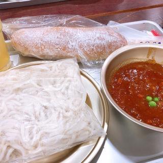 ソフト麺給食(ちびまる子ちゃんランド)