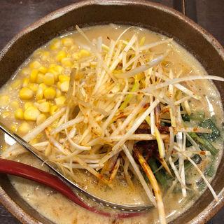 信州味噌肉ネギラーメン コーントッピング(蔵deらーめん (クラデラーメン))