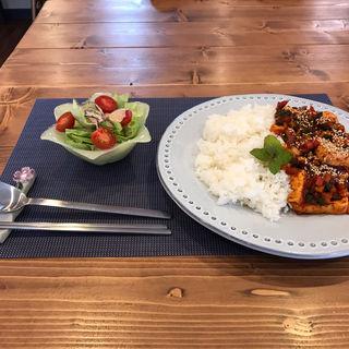 豆腐のうま辛煮(cage&house HESED)