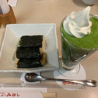 いそべ巻&抹茶フロート(みはし 上野本店 )