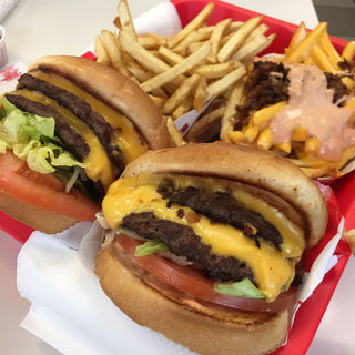 Double Double with potato(In-n-out)