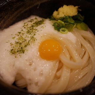 山かけ生醤油うどん(手打ちうどん 団平 (だんぺい))
