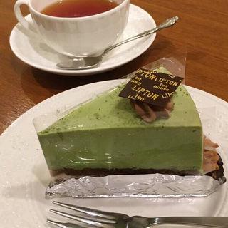 抹茶と生チョコのタルト(リプトン ティーハウス ティーハウス店)