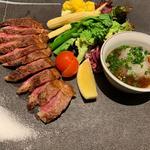 有田鶏のステーキ