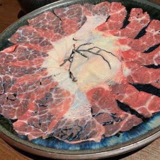 鯨のウネのしゃぶしゃぶ鍋(博多ほてい屋祇園店)
