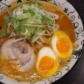 スパイシー海老ラーメン(つけ麺 六芒星)