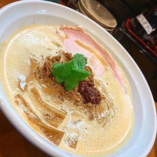 三味豚と道産麦味噌らーめん(麺屋 一刃)