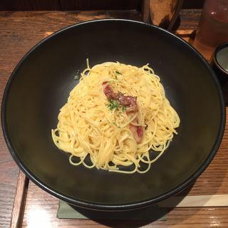 カリカリベーコンのクリーミーカルボナーラ(釜あげスパゲッティ すぱじろう 銀座店)