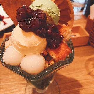 抹茶パフェ(神楽坂茶寮本店)