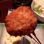 サラダホーレン草とバターの牛肉巻き(串揚げ)