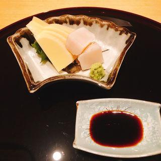 筍と帆立貝の刺身(いがた)