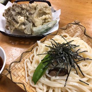 竹(大ざるうどん・舞茸の天ぷら)