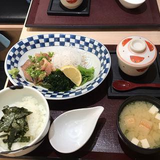 ゴマ鯖定食(海鮮丼 日の出)