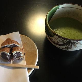 抹茶 お菓子付き