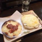 せんべいピザ(イカの塩辛)