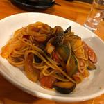 茄子のアラビアータスパゲッティ