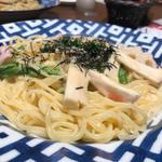 イカと野菜の明太子クリームパスタ(鎌倉パスタ ミウィ橋本店 )