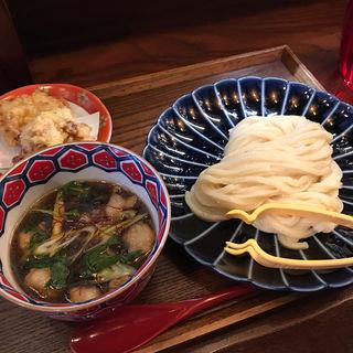 ぷるぷるホルモンつけ麺定食(つけウドン専門ト酒ト料理 花雷 烏丸店)