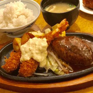 エビフライ&ハンバーグ(洋食の欧風軒)