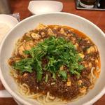 麻婆麺+パクチー