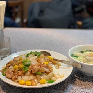 白果鶏飯ワンタンスープセット(秀永 (シュウエイ))