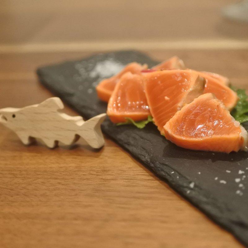 紅鮭の塩たたき フランス産の天日塩で