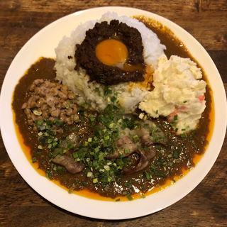レトルト自作(納豆、豚バラ、ポテサラ)