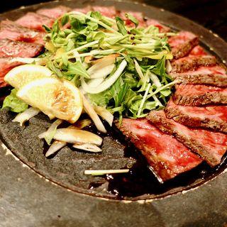 なにわ黒牛の炙りステーキ(大阪産(もん)料理 空 堀江店 (オオサカモンリョウリ ソラ))