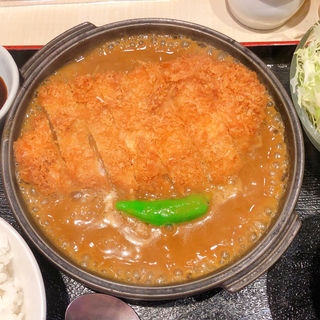 ロースカツ膳 +カレー(にし邑 )