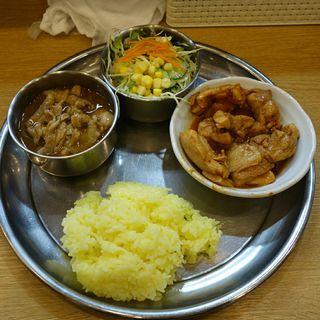 ランチ(チキンムガール)+バラカリ(カレーの店 ガン爺)