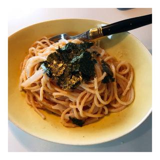 魔法の明太子イカのスパゲッティ