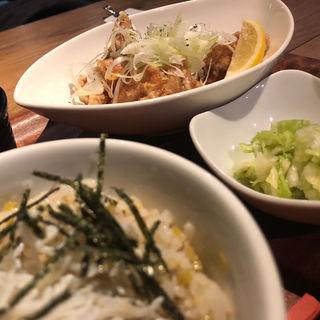 唐揚げ定食 ネギ塩味 (肉炭バル MATOIYA )