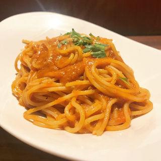 渡り蟹のトマトソーススパゲッティ(Osteria Doppio Gusto)