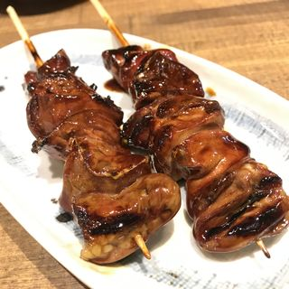 鶏レバー串(串焼マルワ神田鍛冶町店)