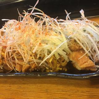 ねぎたっぷり油淋鶏(居酒屋ダイニングEBISU)