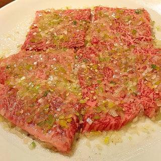 ロース塩(黒毛和牛ネギ塩味)(焼肉 まんぷく苑 )