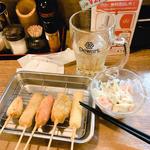 晩酌セット (串カツ5本盛り、ビールorハイボール)(へそ 京橋店 )
