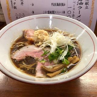 地鶏の特選醤油ラーメン〜ホタテペースト添え〜(醤油と貝と麺 そして人と夢 )