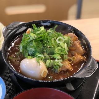 鶏と玉子の味噌煮込み鍋膳生野菜セット 豚汁変更