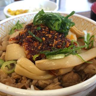 食べラー・メンマ牛丼(すき家 博多BP店 )