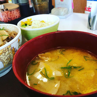 とん汁・サラダセット(すき家 博多BP店 )