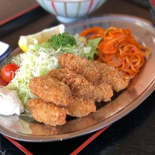 カキフライ定食(7ヶ)ナポリタン付き