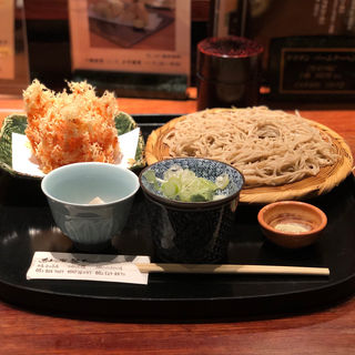 桜海老かき揚げと二八蕎麦