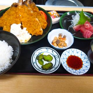 鯵フライ定食マグロブツ付き(定食 卓味 )
