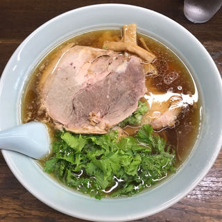 醤油ラーメン(大)、チャーシュートッピング(熊王ラーメン (くまおうらーめん))