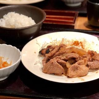 豚しょうが焼定食(博多もつ鍋やまや 心斎橋筋店 )
