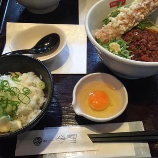 肉味噌うどん TKG(讃岐うどん 今雪 )