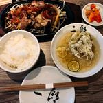 A5焼肉定食 & 二郎冷麺(A5焼肉&手打ち冷麺 二郎)